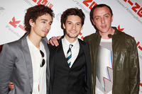 Robert Sheehan, Ben Barnes and Peter Serafinowicz at the UK premiere of