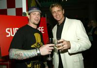 Vanilla Ice and John Schneider at the WB Television Network's All-Star Winter TCA Party.
