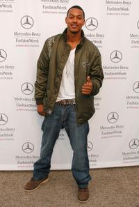 Wesley Jonathan at the Mercedes Benz Fashion Week.