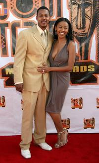 Wesley Jonathan and Denyce Lawton at the 21st Annual Soul Train Music Awards.