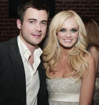 Actors Matt Long and Sara Paxton at the after party of the L.A. premiere of