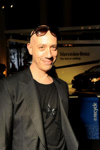 Robert Verdi at the Lincoln Center during the Mercedes-Benz Fashion Week.