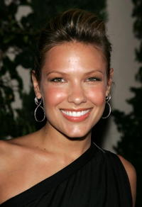 Kiele Sanchez at the WB Network stars party.