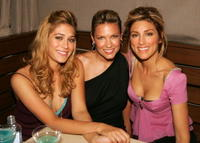Lizzy Caplan, Kiele Sanchez and Jennifer Esposito at the WB Network stars party.