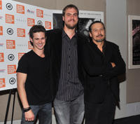 Connor Paolo, director Jim Mickle and Nick Damici at the New York premiere of