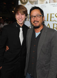 Chase Ellison and Dennis Lee at the California premiere of