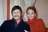Picture of Jill Ireland and US actor Charles Bronson.