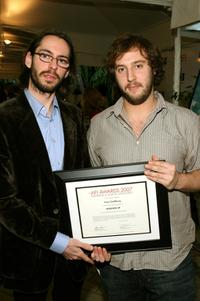 Martin Starr and Producer Evan Goldberg at the AFI AWARDS 2007: Honoring A Year of Excellence plaque during the 8th Annual AFI Awards.