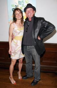 Mary Lynn Rajskub and Gregory Itzin at the Mary Lynn Rajskub's Art Opening.