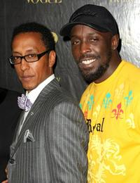 Andre Royo and Michael Kenneth Williams at the Men's Vogue Critics Choice celebration for