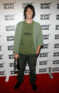 Will Janowitz at the launch of Mont Blanc's first Women's jewelry collection party.