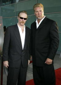 Director Jonathan Hensleigh and Kevin Nash at the Los Angeles premiere of