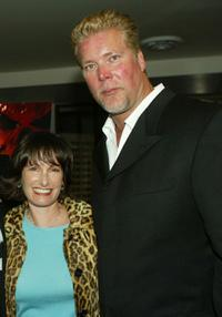 Gale Anne Hurd and Kevin Nash at the Los Angeles premiere of