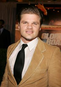 Evan Jones at the premiere of