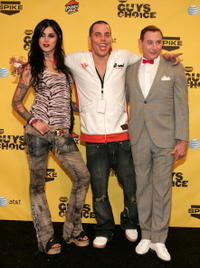 Kat Von D, Steve-O and Paul Reubens at the taping of Spike TV's First Annual