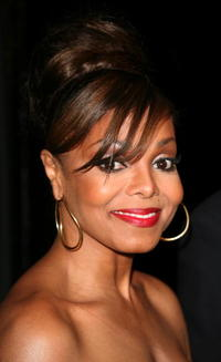 Singer Janet Jackson at the Ebony Pre-Oscar celebration at Jim Henson Studios in L.A.