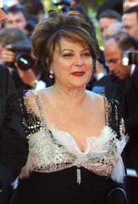 Josiane Balasko at the Palais des Festivals, for the screening of