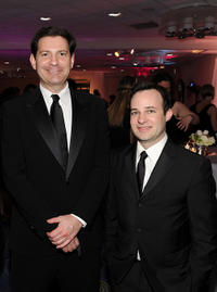 Senior political analyst of TIME Mark Halperin and Danny Strong at the TIME/CNN/People/Fortune White House Correspondents' dinner cocktail party in DC.