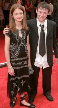 Bonnie Wright and Devon Murray at the premiere of