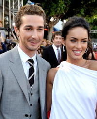 Shia LaBeouf and Megan Fox at the premiere of