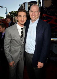 Shia LaBeouf and Rob Moore at the premiere of