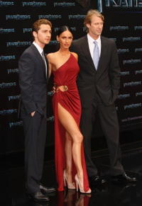 Shia LaBeouf, Megan Fox and Director Michael Bay at the German premiere of