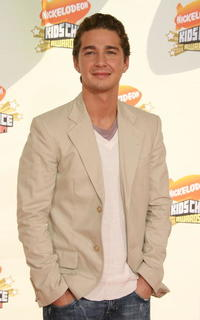 Shia LaBeouf at the 20th annual Kid's Choice Awards in California.