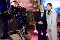 Kevin James and Adam Sandler on the set of