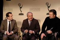 Alec Baldwin, Robert Carlock and Lorne Michaels at the discussion of