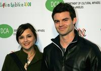 Rachael Lee Cook and Daniel Gillies at the opening of