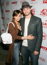 Rachael Leigh Cook and Daniel Gillies at the Camp Freddy concert.