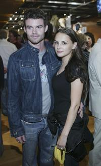 Daniel Gillies and Rachael Leigh Cook at the exhibition of