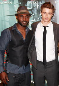 Adrian Holmes and Max Irons at the European premiere of