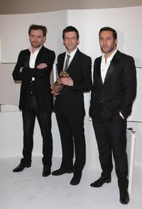 Jean-Paul Rouve, Alex Beaupain and Gilles Lellouche at the Cesar Film Awards 2008.