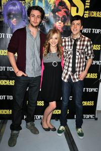 Aaron Johnson, Chloe Moretz and Christopher Mintz-Plasse at the