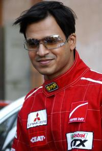 Vivek Oberoi on the set of