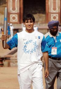 Vivek Oberoi at the Olympic Torch Relay.
