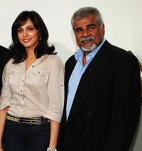 Ishaa Koppikar and Sharat Saxena at the promotion of