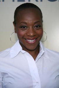 Marianne Jean-Baptiste at the BAFTA/LA-Academy of Television Arts and Sciences tea party.