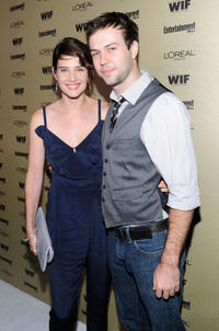 Cobie Smulders and Taran Killam at the 2010 Entertainment Weekly and Women In Film Pre-Emmy party in California.