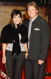 Kris Jenner and Bruce Jenner at the premiere of