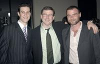 Pablo Schreiber, Charles Schreiber and Liev Schreiber at the opening of the Lincoln Center Theater.