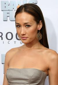 Maggie Q at the premiere of