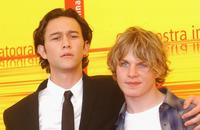 Joseph Gordon-Levitt and Brady Corbet at the photcall of