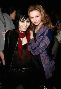 Joan Jett and Amber Tamblyn at the Anna Sui Fall 2007 fashion show during the Mercedes-Benz Fashion Week.
