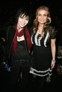 Joan Jett and Carmen Electra at the Anna Sui Fall 2007 fashion show during the Mercedes-Benz Fashion Week.