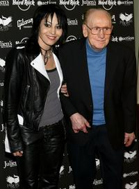 Joan Jett and Les Paul at the Icons of Music II Auction.