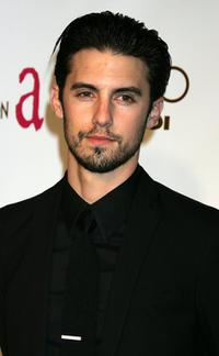 Milo Ventimiglia at the 14th Annual Elton John Academy Awards viewing party.