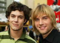 Adam Brody and Mike Vogel at the premiere of