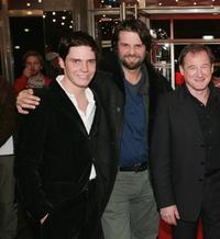 Daniel Bruehl, Director Hans Weingartner and Burghart Klaussner at the premiere of